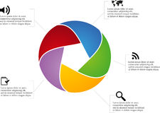 Circle infographic Stock Photography