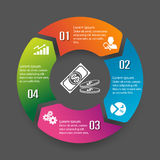 Circle infographic label four option Stock Image
