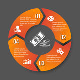 Circle infographic label four option Stock Photography