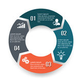 Circle infographic label four option Stock Images