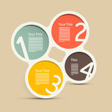 Circle Infographic Layout. Four Steps Vector Circle Infographic Layout Stock Photos