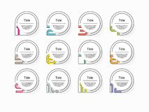 Circle infographic number options. Design vector template can be used for workflow layout, diagram, presentation, web design. Busi. Nes concept with 12 options vector illustration