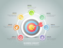 Circle infographic 7 options,  Business concept infographic Royalty Free Stock Photos