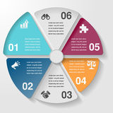 Circle infographic template diagram chart, business parts steps Stock Photo