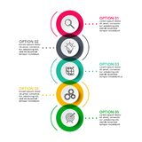 Circle for infographic. Template for diagram, graph, presentation and round chart. Business concept with 6 options royalty free illustration