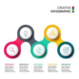 Circle for infographic. Template for diagram, graph, presentation and round chart. Business concept with 5 options royalty free illustration