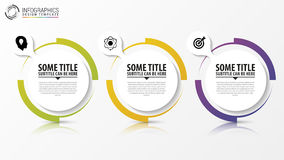 Circle Infographic. Template For Diagram. Vector Royalty Free Stock Image