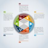 Circle infographic template Royalty Free Stock Photography