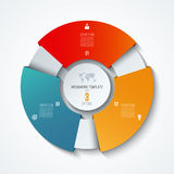 Circle infographic template. Process wheel. Vector pie chart. Business concept with 3 options. Can be used for diagram, graph, chart, step by step infographics Royalty Free Stock Image
