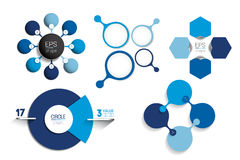 Circle infographic template. Round net diagram, graph, presentation, chart. Stock Photography