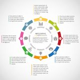 Circle infographic template Stock Photo