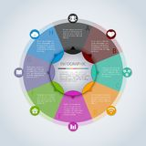 Circle infographic template Royalty Free Stock Images