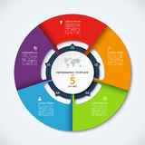 Circle infographic template. Vector layout with 5 options Royalty Free Stock Image