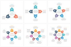 Circle Infographic Templates Royalty Free Stock Photography