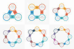 Circle Infographic Templates Royalty Free Stock Image