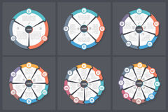 Circle Infographic Templates Stock Images