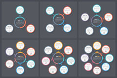 Circle Infographic Templates Stock Photography