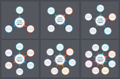 Circle Infographic Templates Royalty Free Stock Images