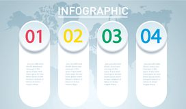 Circle infographic. Vector template with 4 options. Can be used for web, diagram, graph, presentation, chart, report, step by step Stock Image