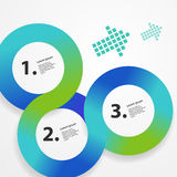 Circle infographic web template Royalty Free Stock Image