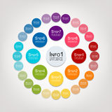 Circle infographic for your design Stock Photography