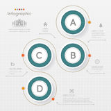 Circle Infographics design template with icons, process diagram, Stock Photography