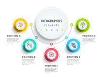 Circle infographics elements design. Abstract business workflow Royalty Free Stock Image