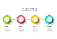 Circle infographics elements design. Abstract business workflow Royalty Free Stock Photos