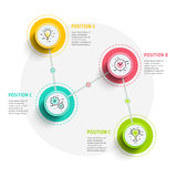 Circle infographics elements design. Abstract business workflow Stock Photo
