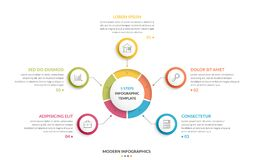 Circle Infographics - Five Elements Stock Image