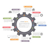 Circle Infographics with Gear Stock Photo