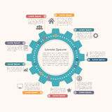 Circle Infographics with Gear Royalty Free Stock Images