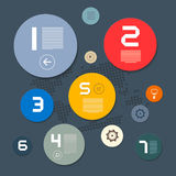 Circle Infographics Layout Stock Photography