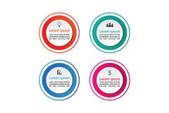 Circle infographics set template concept template Stock Photos