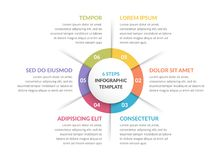 Free Circle Infographics - Six Elements Royalty Free Stock Images - 117823089