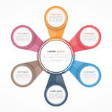 Circle Infographics Six Elements Royalty Free Stock Images