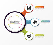 Circle infographics. Template for diagram. Vector illustration Stock Photos