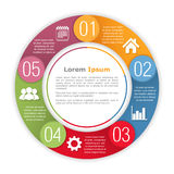 Circle Infographics Template Royalty Free Stock Photo