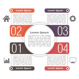 Circle Infographics Template Stock Photos