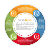 Circle Infographics Template Royalty Free Stock Photography