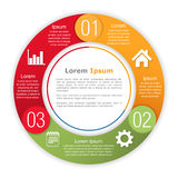 Circle Infographics Template Royalty Free Stock Photos