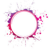 Circle with inky splashes Stock Photography