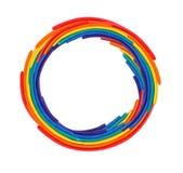 Plasticine cirklar Fotografering för Bildbyråer