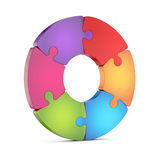 Circle jigsaw puzzle wheel Stock Photography