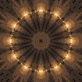 Circle kaleidoscopic synthetic Art background, complex geometry Royalty Free Stock Photo