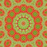 Circle kaleidoscopic synthetic Art background, complex geometry Royalty Free Stock Images