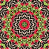 Circle kaleidoscopic synthetic Art background, complex geometry Stock Photography