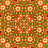 Circle kaleidoscopic synthetic Art background, complex geometry Stock Photo