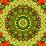 Circle kaleidoscopic synthetic Art background, complex geometry Stock Image