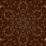 Circle kaleidoscopic synthetic Art background, complex geometry Royalty Free Stock Image